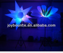 inflatable star with led,inflatable led decoration,giant inflatable flower decoration