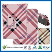 C&T Grid design standing wallet leather flip case for ipad mini 2