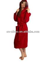 Hooded Velour Bathrobe for Women and Men