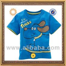 short sleeve custom cotton t-shirt for 2-6 years old boys