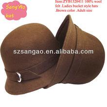 Small distributor brown cashmere wool hat fedora new style females wear hair caps100%wool felt/sun visor hat/Baby/Mini cap