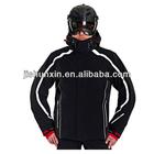 JSX131 popular high quality 100% nylon men black best cheap ski jacket