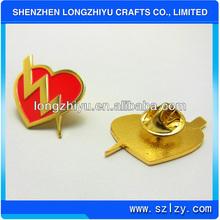 Custom Fashion High Quality Metal Enamel Buy Buy Badges,Metal Red Heart Lapel Pins,Custom Badges For Crafts Gift