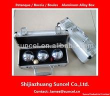 Petanca / petanca / Boccia caja ( Wodden caja, De aluminio de aleación de caja )