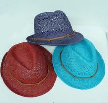 2014 fashion child paper straw hat with new design