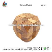 Wooden Puzzle Brain Teaser Diamond Puzzle