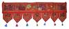Flower Embroidery Patchwork Cotton Door Hanging Toran, Indian Patchwork Door Hanging