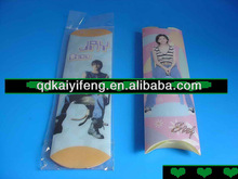 Small clear pillow like pvc box/clear folding palstic package