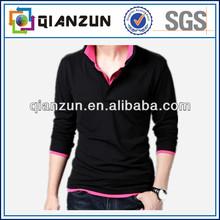 Fashion New 100% Cotton Man Black Polo T-shirt