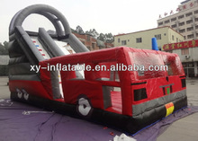 Fire truck combo slide bouncer inflatable