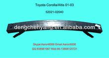 toyota corolla 01-03 front bumper reinforcement