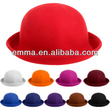 Classic Style Vintage Lady Vogue Women Wool Cute Trendy Bowler Derby Hat H154