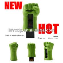 the new hot sell incrediable avengers Hulk USB flash drive / big giant fist usb flash memory/ usb stick LFN-052