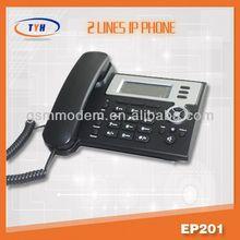 2 line voip phone/best IP PHONE/wifi sip desk phone