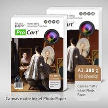A3 Canvas 380g matte inkjet photo paper