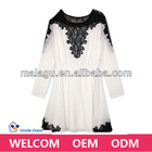 Malagu new fashion lace design long blouse neck models