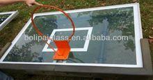 Transparent glass basketball backboard