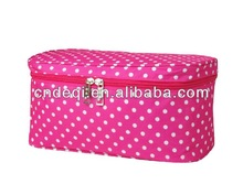 Polka Dot Travel Cosmetic Case In Polyester