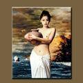De haute qualité pure main- peint peinture à l'huile chaude ouvert, sexy fille chinoise peinture décoratifs pour la maison