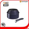 Aluminum wide edge non-stick removable handle frying pan