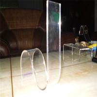 Clear Transparant Acrylic plexiglass flexible boot filler, shoe stand set