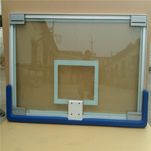 High-strength safety glass outdoor basketball board aluminum frame