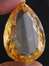Eye Clean Natural Pear Cut Brazilian Citrine Stone in Tucson
