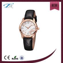 Environmental friendly genuine leather wristband good looking ladies watch