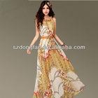 Retro star style organza with doll collar dress