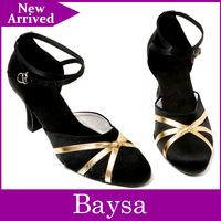 Professional modern dancing shoes silver and gold color BL642