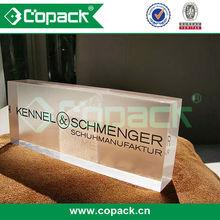 advertising laser engraving acrylic brand name block display