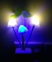 Mushroom Lamp Night Light Energy Smart LED color creative baby bedroom bedside lamp small wall