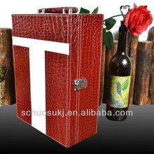 2015 Christmas gift ,Portable Wine Gift Box,Wine Bottle Packing Box/Wine Storage Box Case