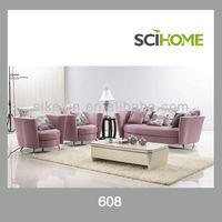 Purple high round back sofa set
