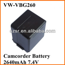 for Panasonic camcorder lithium battery VW-VBG260 battery shop