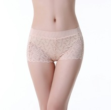 New design hot popular wholesale women middle waist sexy boxer shorts transparent images