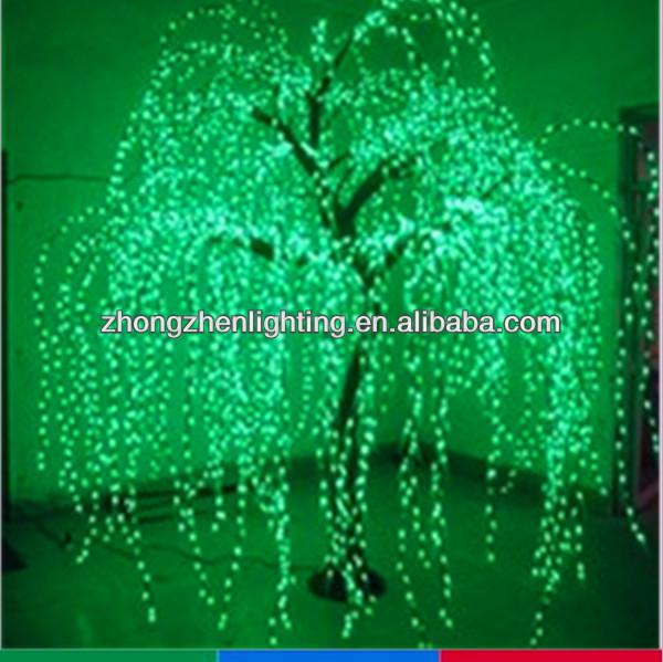 3m grün outdoor led trauerweide baum beleuchtung führte weide baum