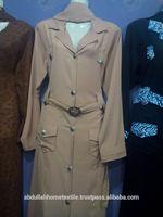 Coat style cheap multi colored jersey abaya design 2014