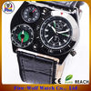 24 Hours Dial Military Army Green Canvas Mens Sport Quartz Clock Wrist Watch
