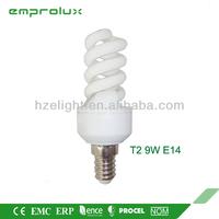 Energy Saving Light T2 Full Spiral 9W cfl Light Bulbs