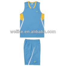 Sky blue basketball uniforms woman basketball jerseys cheap custom basketball clothing