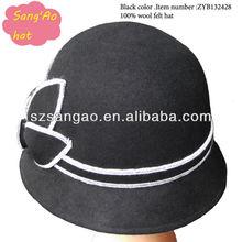 Manufacture Black wool church hat