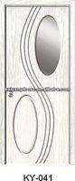Romania/Turkey pvc mdf toilet wooden glass design door