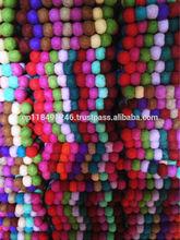 Handmade Felt Ball tea coaster/ placemat Table decoration