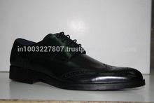 Black 100% Genuine Leather Brogue Comfort Shoes