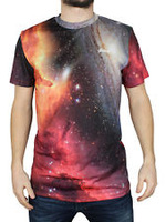 Custom 2014 Red Space Jupiter Galaxy Sublimation Urban T-Shirt / High Quality Street wear Fashion T Shirt/Tees