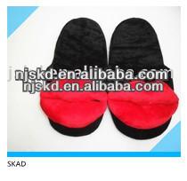 sex product lip plush novelty men slipper made in China Alibaba
