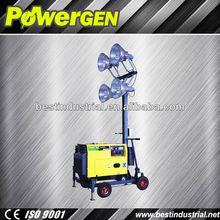 Hot sale!!! POWER-GEN 4 lights BMLT4400 4X400W Metal Halide Lamp 5KW Emergency Light Tower