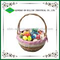 venda quente mini páscoa cestas de vime para as crianças