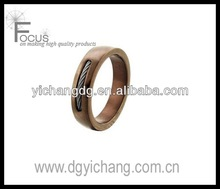 Men's 6.0mm Cable Wedding Band in Brown Ion-Plated Stainless Steel